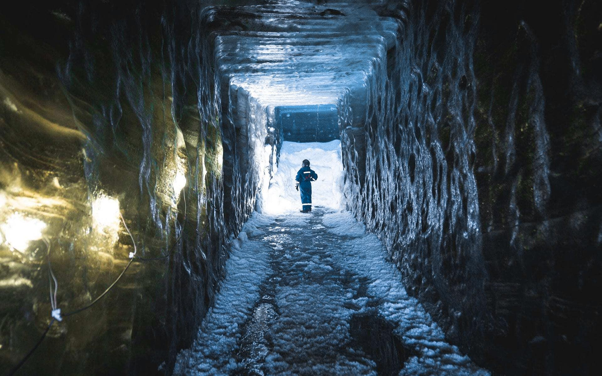 Exploring a man-made ice cave in Iceland