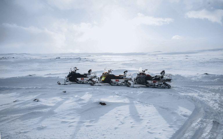 Langjokull glacier snowmobile tour