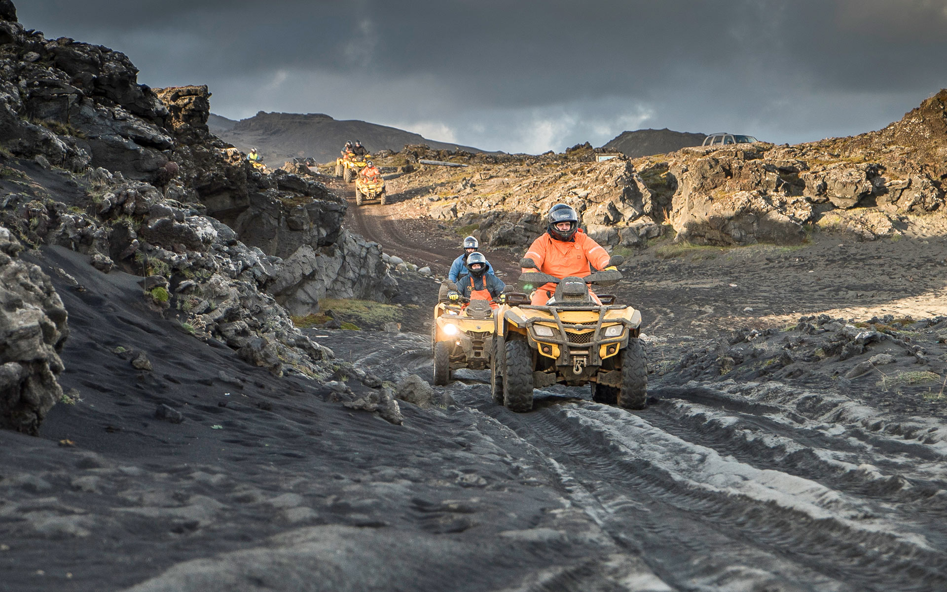 Volcanic ATV safari in Iceland