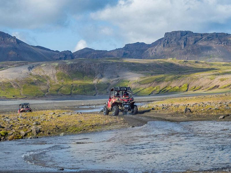 Off-road Buggy driving around the Golden Circle